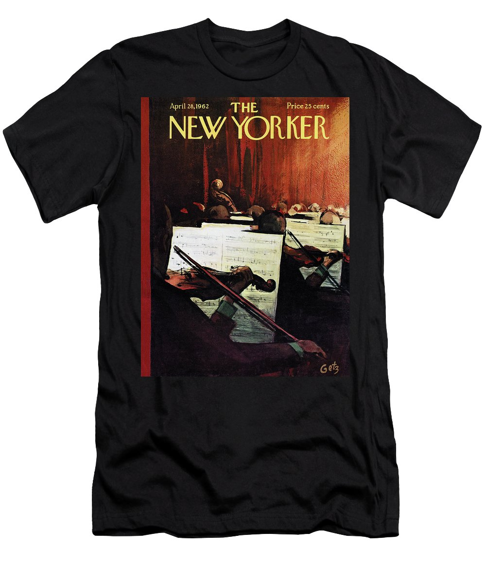 Concert T-Shirt featuring the painting New Yorker April 28th, 1962 by Arthur Getz