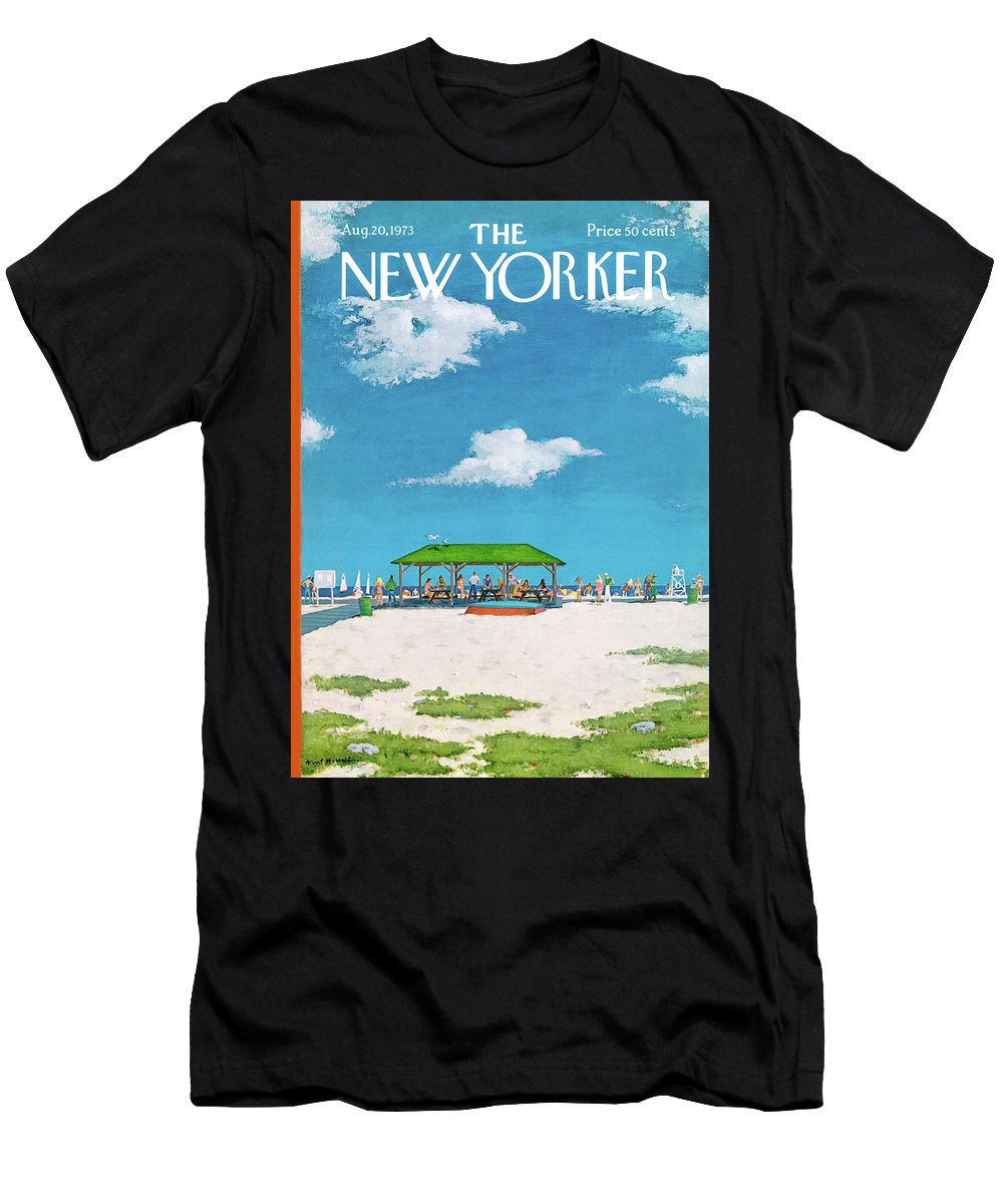 Summer T-Shirt featuring the painting New Yorker August 20th, 1973 by Albert Hubbell