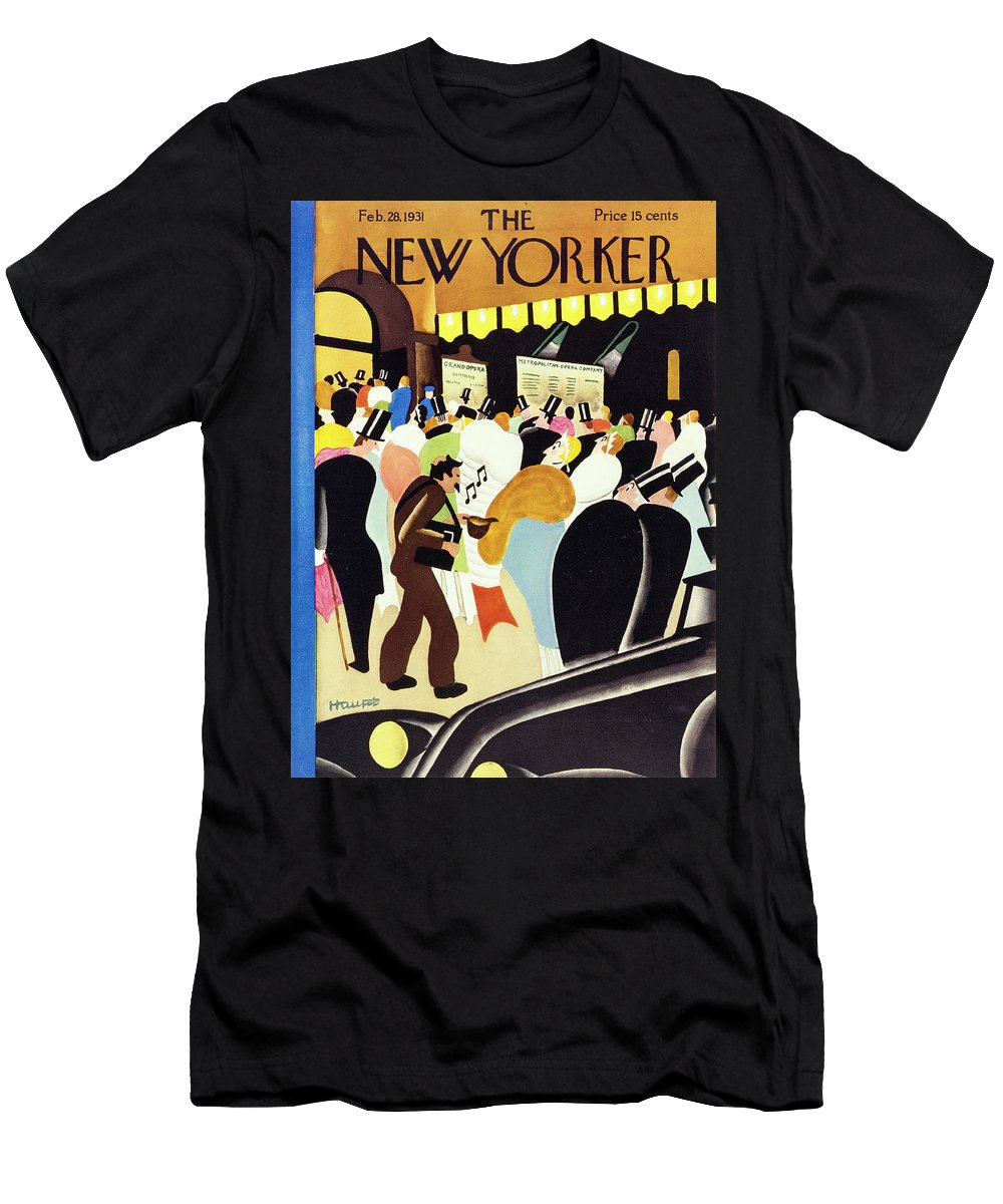 Illustration T-Shirt featuring the painting New Yorker February 28 1931 by Theodore G Haupt