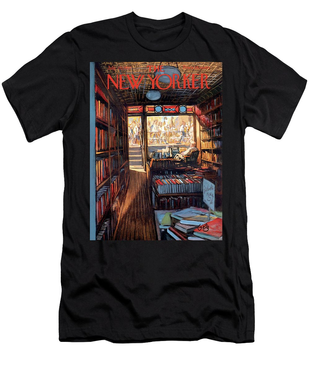 Arthur Getz Agt T-Shirt featuring the painting New Yorker July 20th, 1957 by Arthur Getz