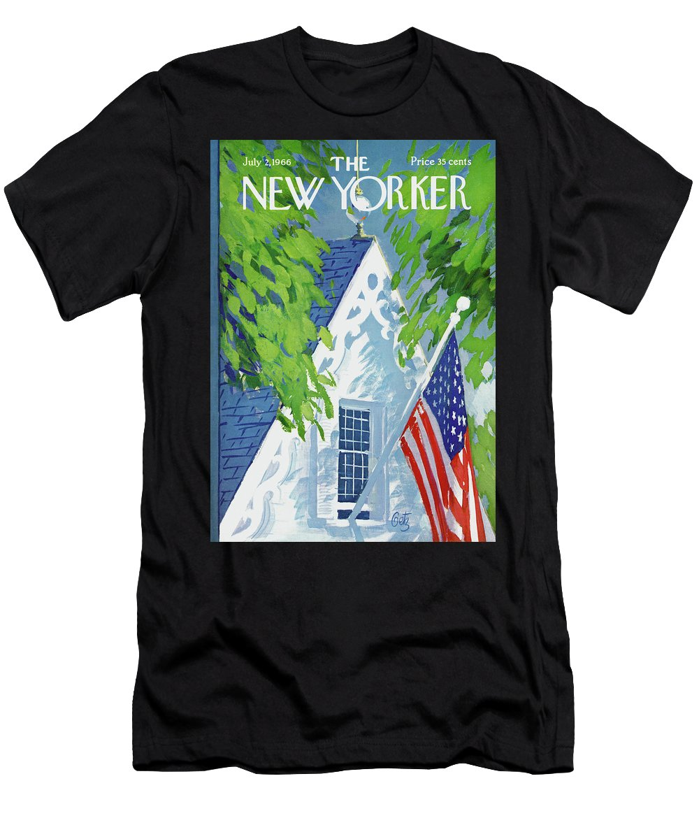 July Fourth T-Shirt featuring the painting New Yorker July 2nd, 1966 by Arthur Getz