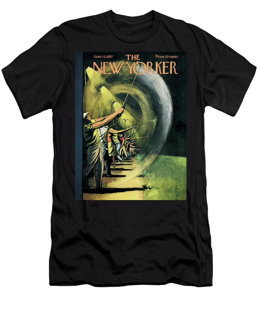 Golf Men's T-Shirt (Athletic Fit) featuring the painting New Yorker June 15th, 1957 by Arthur Getz