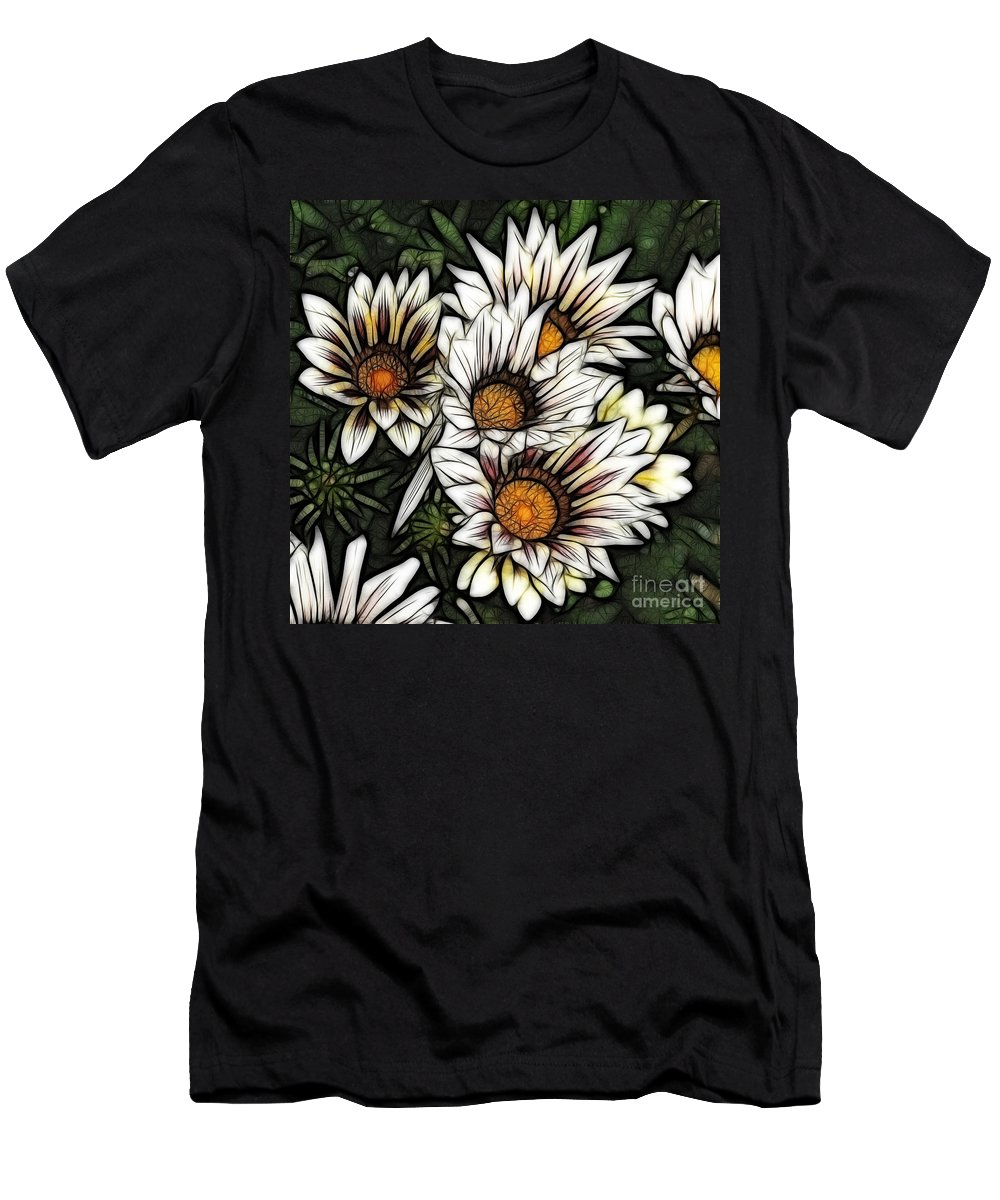 Colorful Men's T-Shirt (Athletic Fit) featuring the photograph New Zealand Flowering Beauties by Bob Christopher