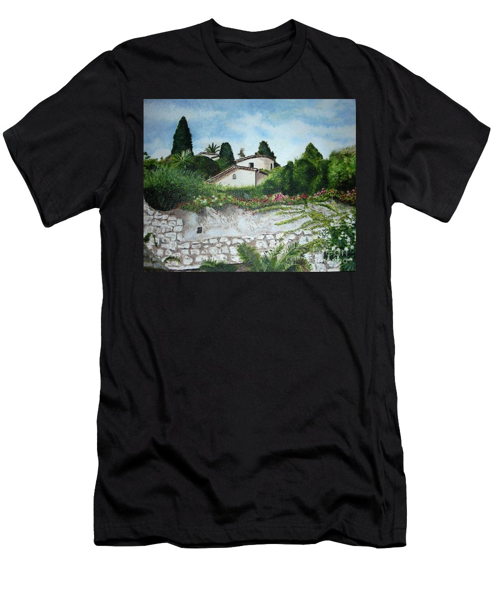 House Men's T-Shirt (Athletic Fit) featuring the painting Nice- France by Graciela Castro