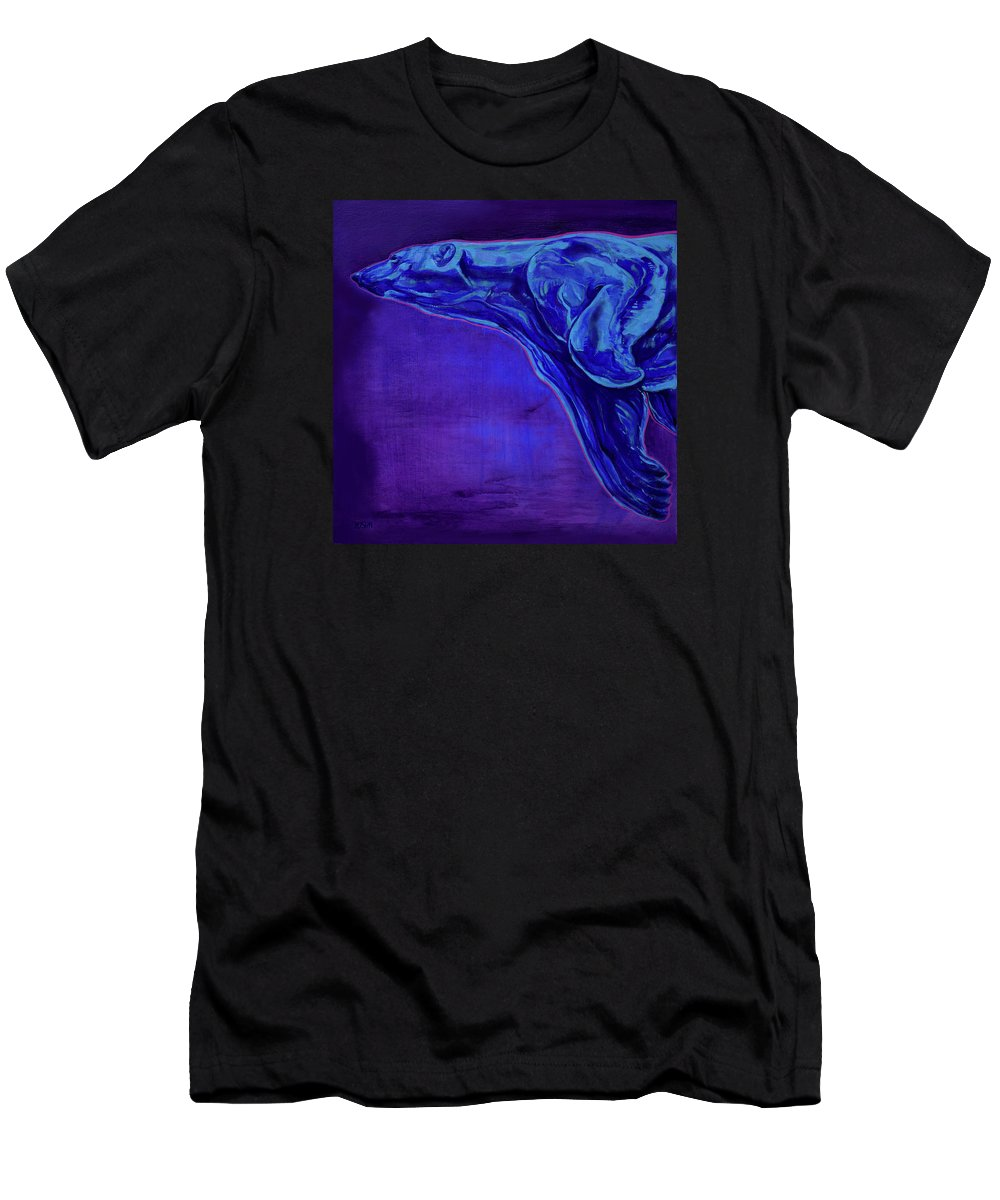 Ursa Major Men's T-Shirt (Athletic Fit) featuring the painting Night Swimmer by Derrick Higgins
