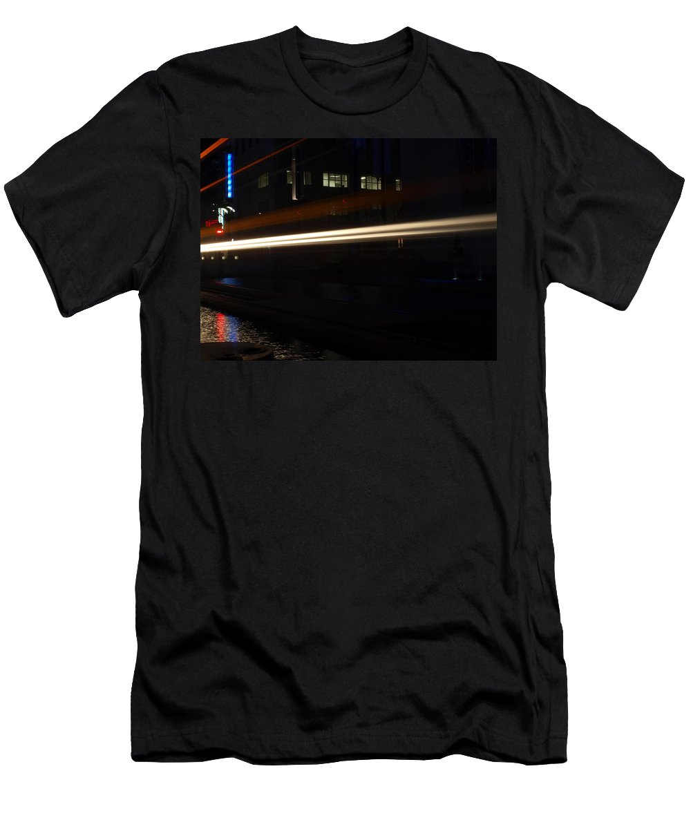 Joshua House Photography Men's T-Shirt (Athletic Fit) featuring the photograph Night Train by Joshua House