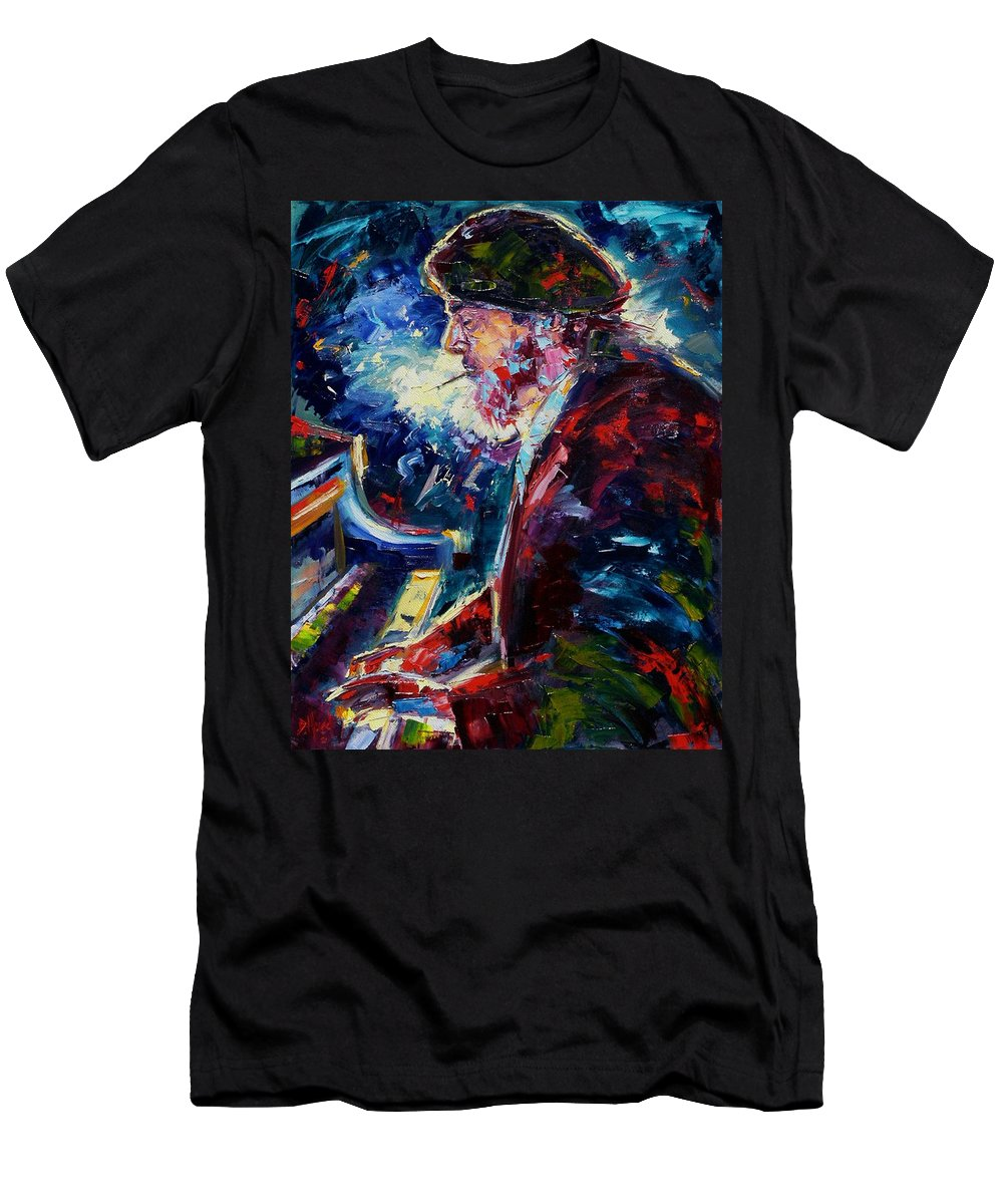 Blues Men's T-Shirt (Athletic Fit) featuring the painting Night Tripper by Debra Hurd