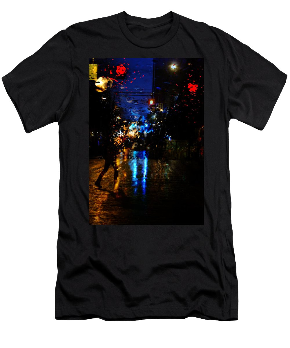Vancouver Men's T-Shirt (Athletic Fit) featuring the photograph Nights Reflect by The Artist Project
