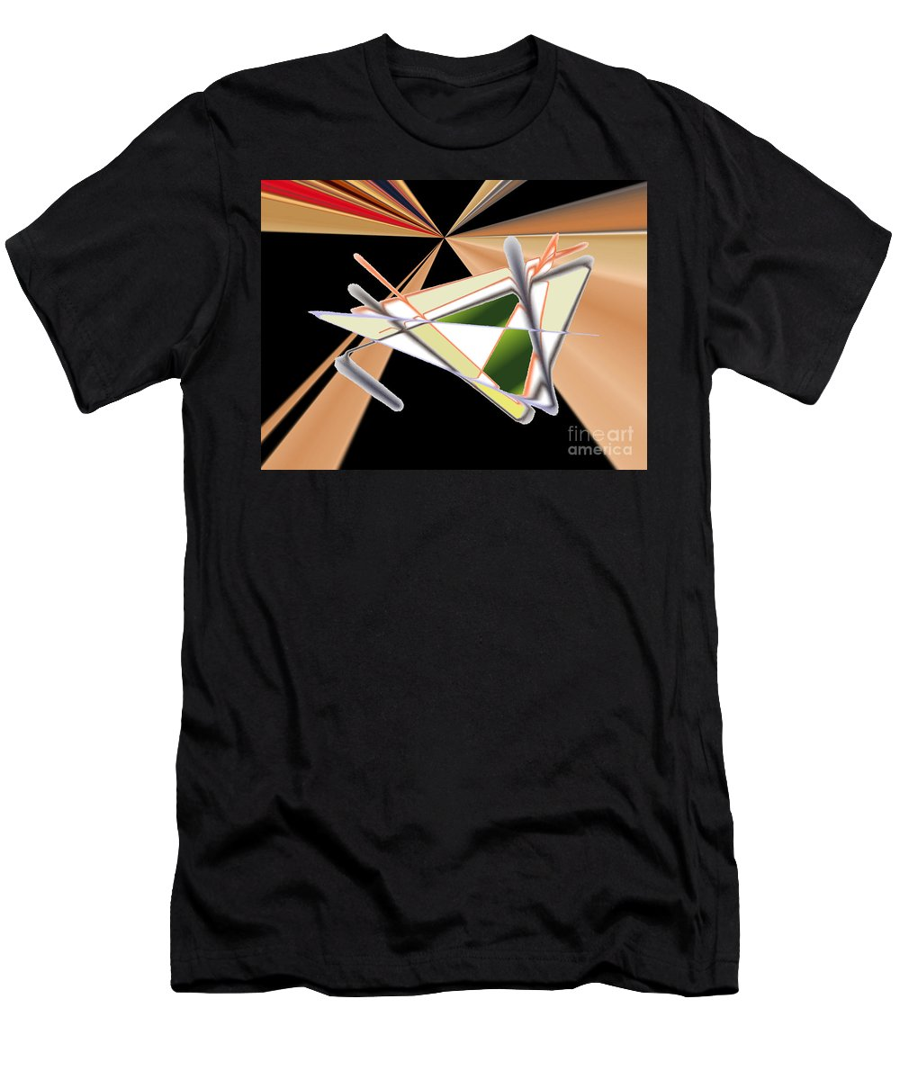 Men's T-Shirt (Athletic Fit) featuring the digital art No. 1128 by John Grieder