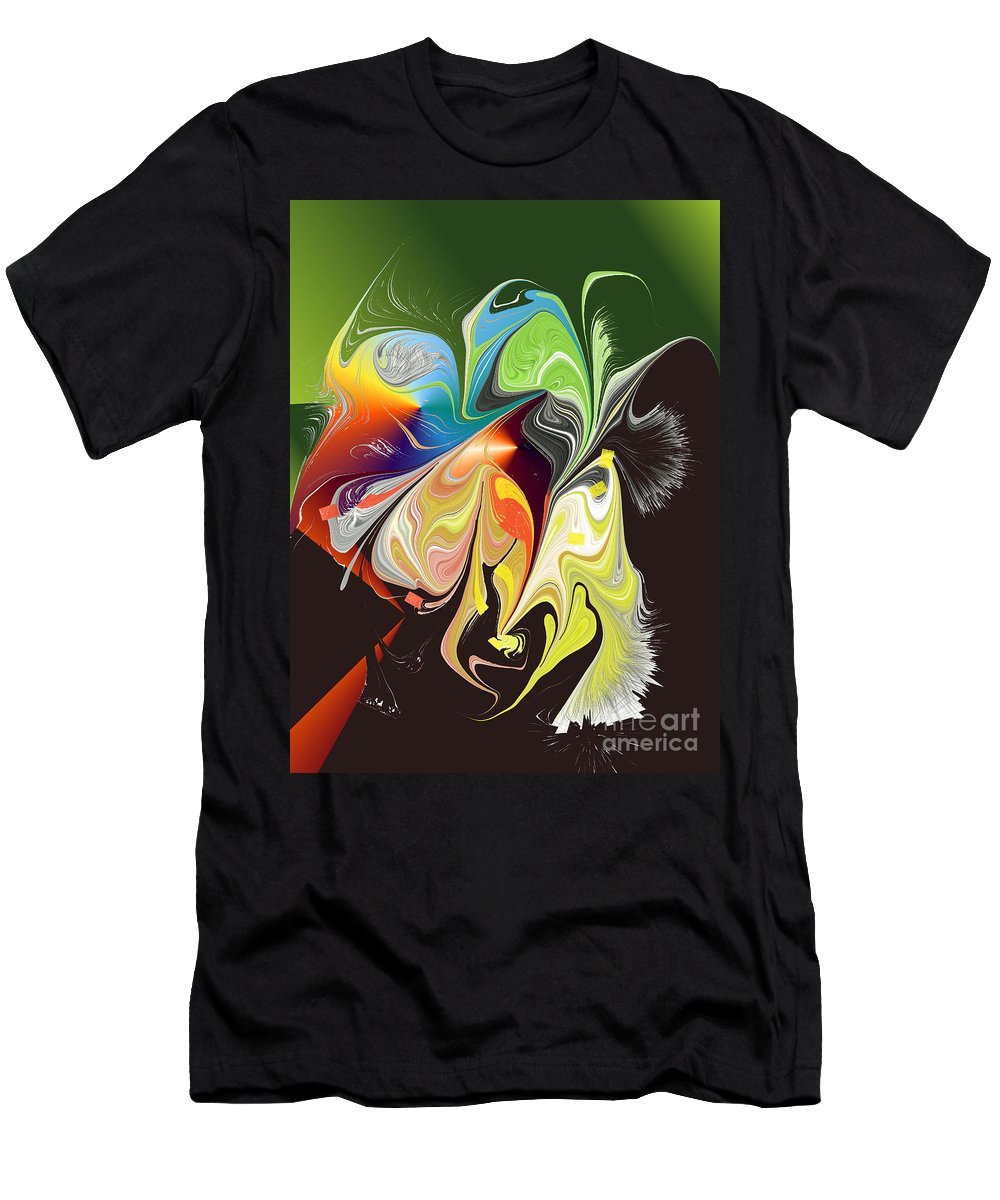 Men's T-Shirt (Athletic Fit) featuring the digital art No. 932 by John Grieder