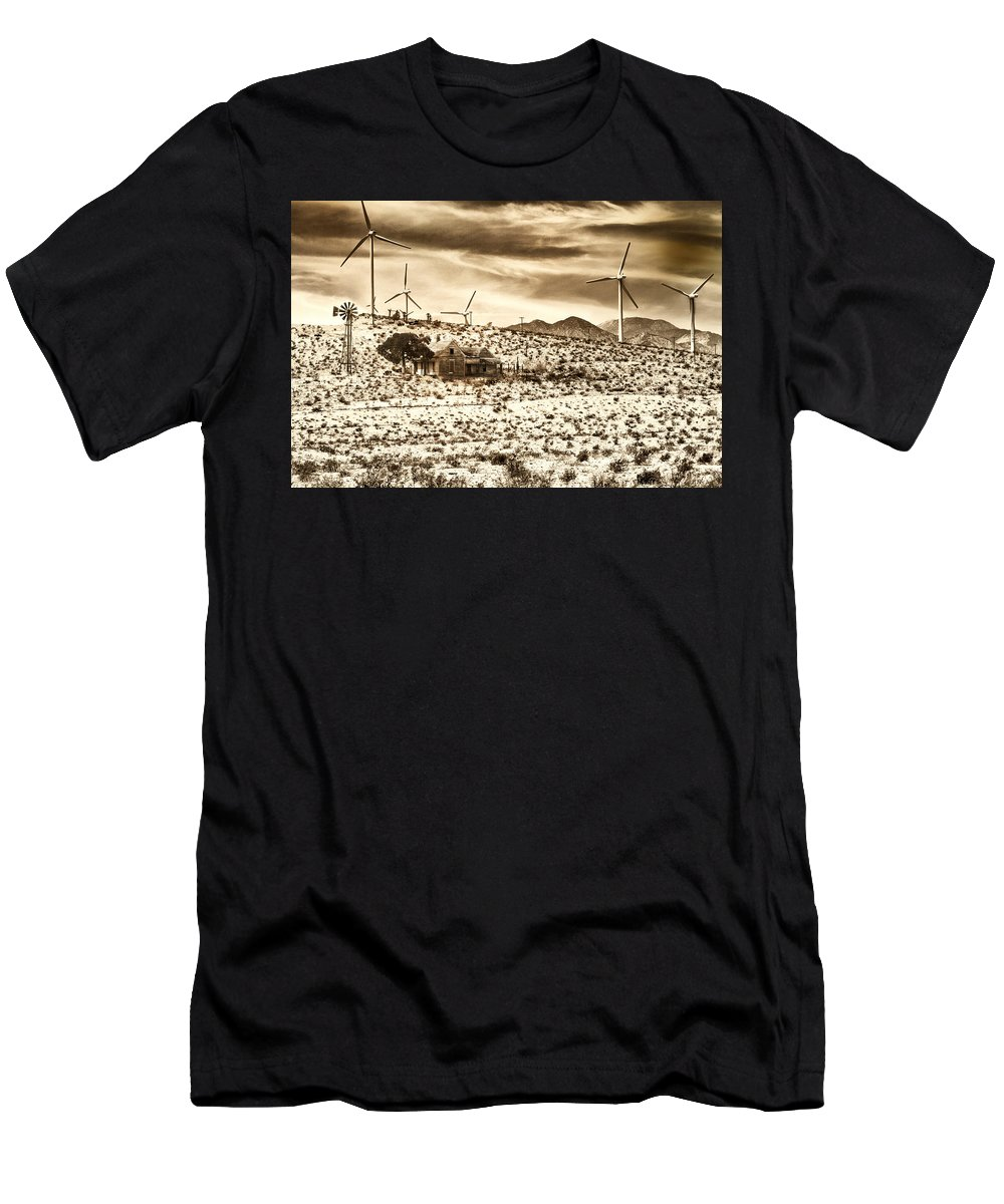 Featured Men's T-Shirt (Athletic Fit) featuring the photograph No Place Like Home 2 Palm Springs by William Dey