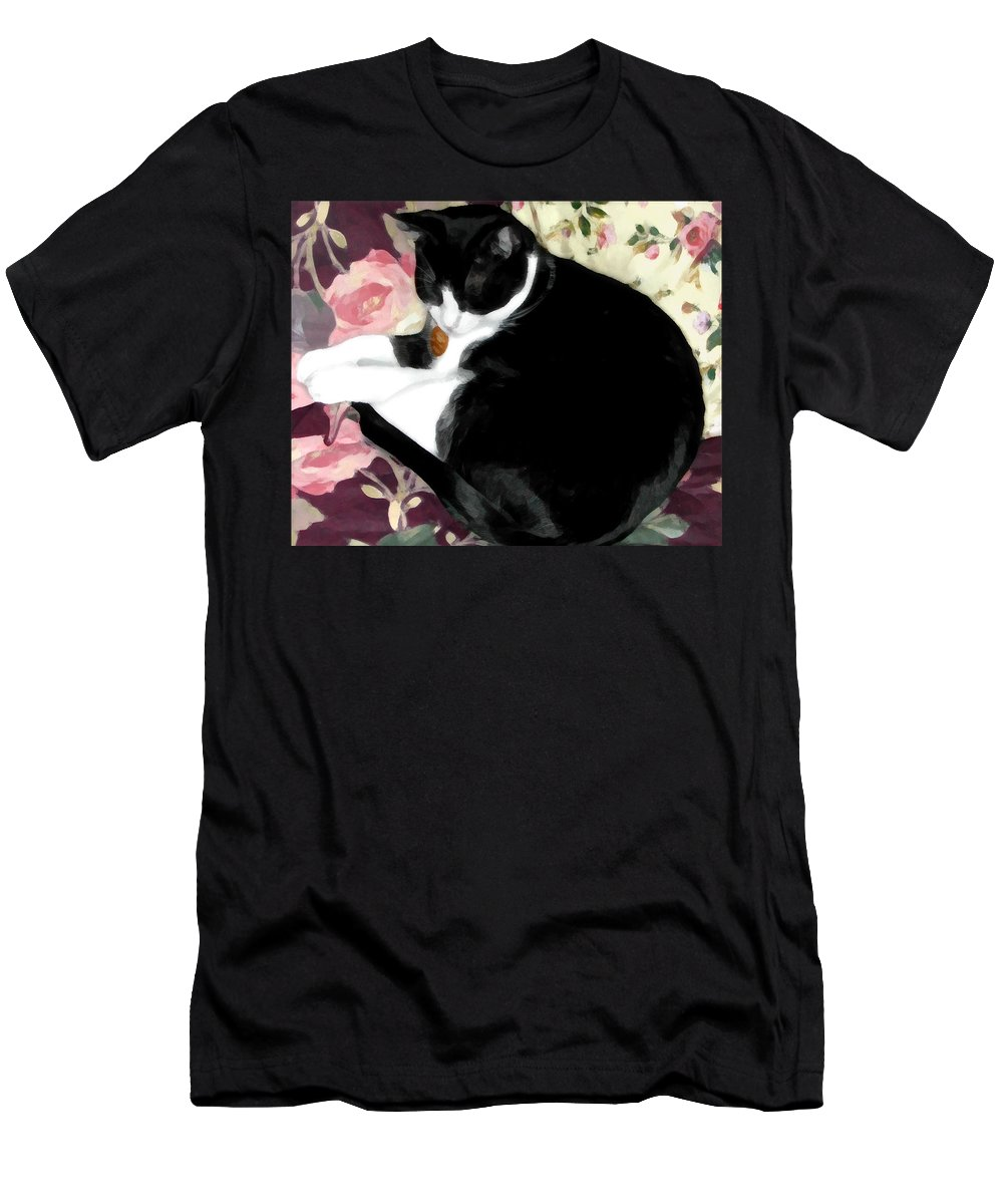 Black And White T-Shirt featuring the photograph No Worries by Jeanne A Martin