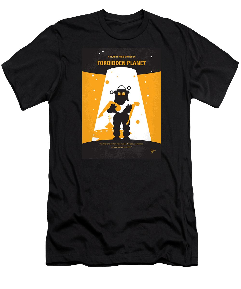 Forbidden Men's T-Shirt (Athletic Fit) featuring the digital art No415 My Forbidden Planet Minimal Movie Poster by Chungkong Art
