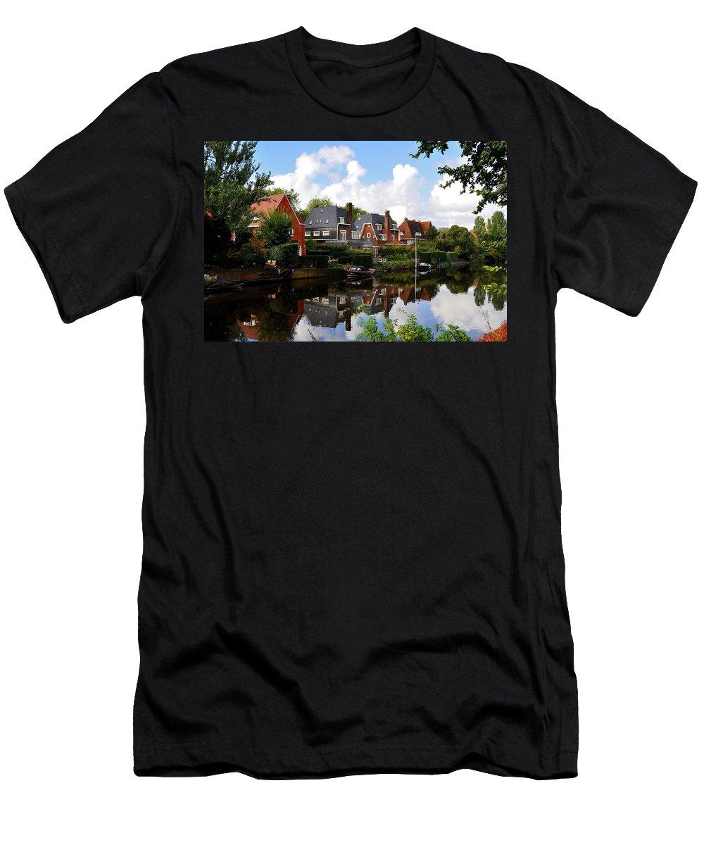 Noorder Men's T-Shirt (Athletic Fit) featuring the photograph Noorder Amstelkanaal Amsterdam by Ursa Davis