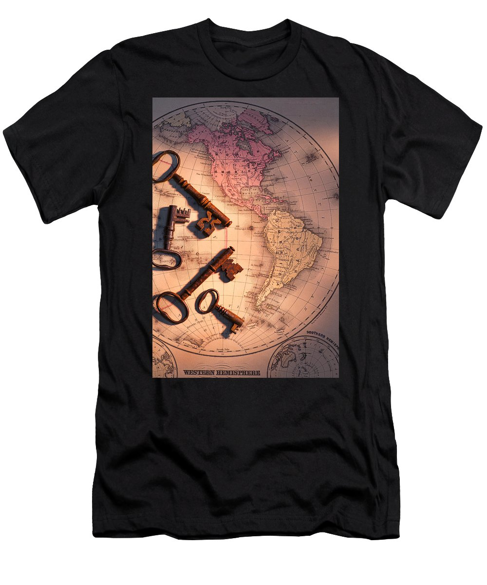 Old Men's T-Shirt (Athletic Fit) featuring the photograph North America And Old Keys by Garry Gay