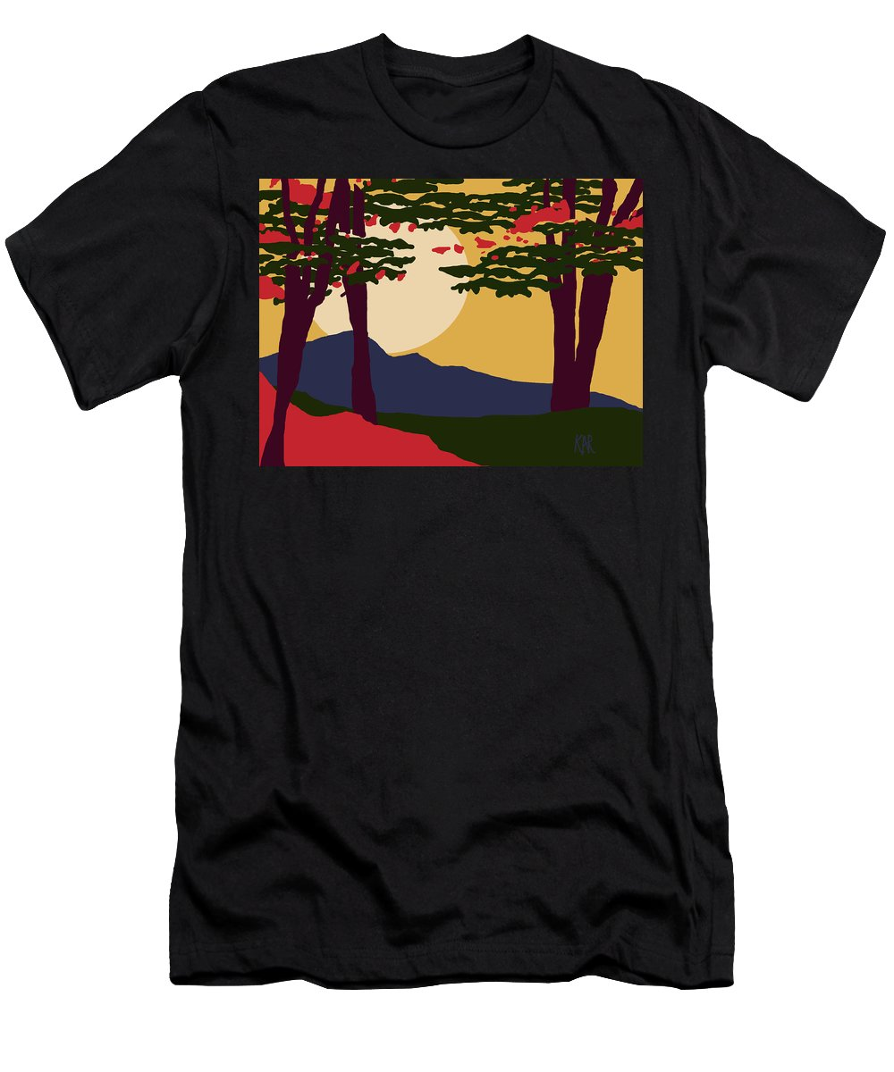Landscape Men's T-Shirt (Athletic Fit) featuring the digital art North American Landscape by Art by Kar