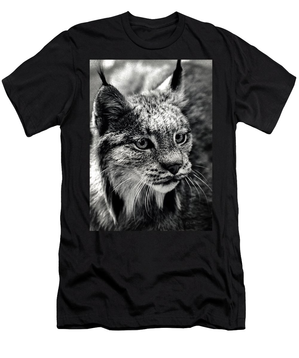 Animal Men's T-Shirt (Athletic Fit) featuring the photograph North American Lynx In The Wild. by Bob Orsillo