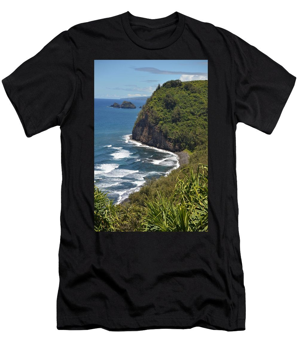 Kona Men's T-Shirt (Athletic Fit) featuring the photograph North Kona Coast 1 by Amy Fose
