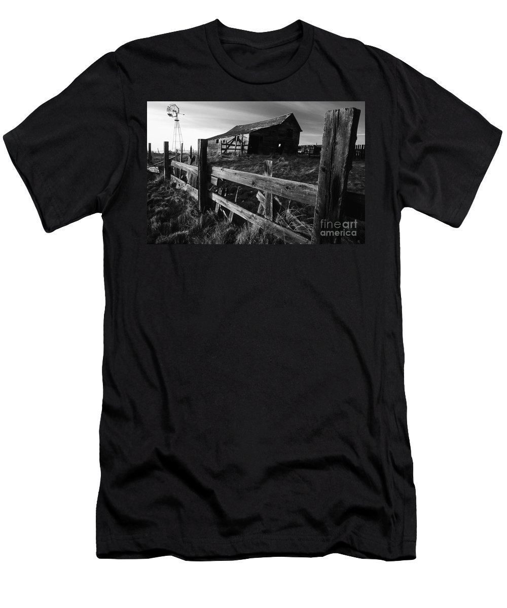 Deserted Men's T-Shirt (Athletic Fit) featuring the photograph Not Ok Corral by Bob Christopher
