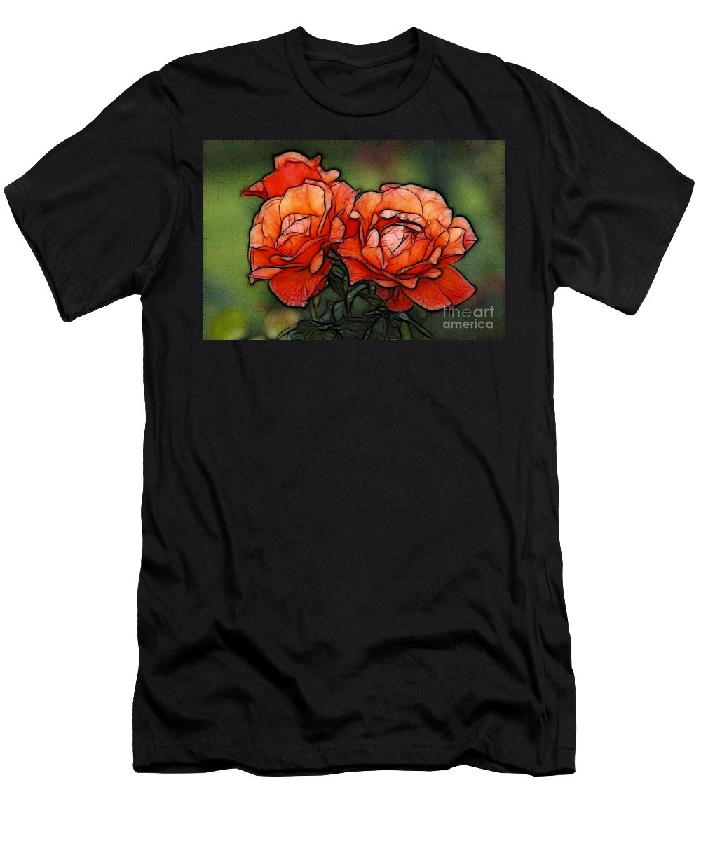 Rose Men's T-Shirt (Athletic Fit) featuring the photograph Nothing Sweeter Than A Rose by Bob Christopher
