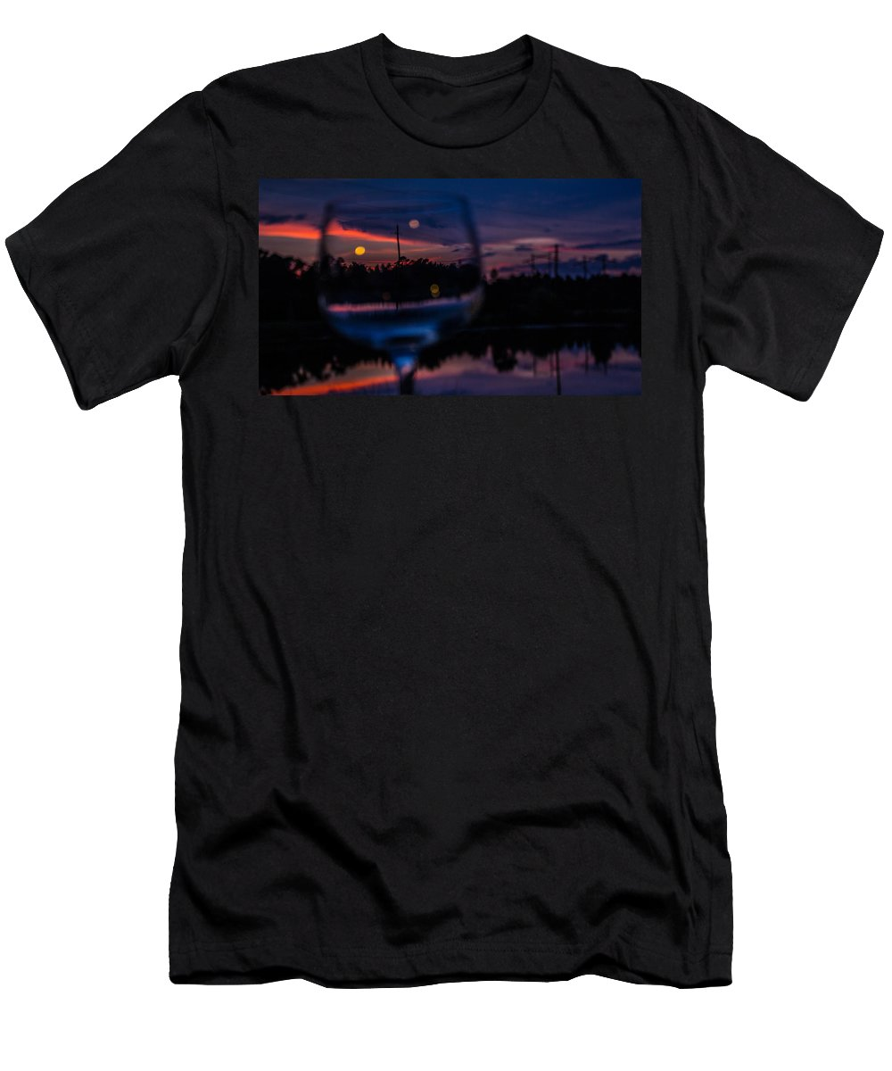 Wine Men's T-Shirt (Athletic Fit) featuring the photograph Nothing Wasted by Tyson Kinnison