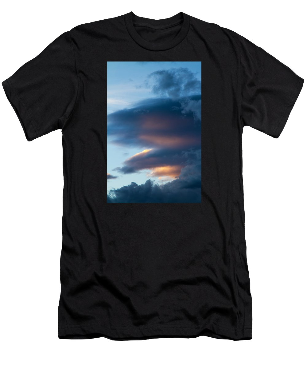 Sky Men's T-Shirt (Athletic Fit) featuring the photograph November Clouds 001 by Agustin Uzarraga