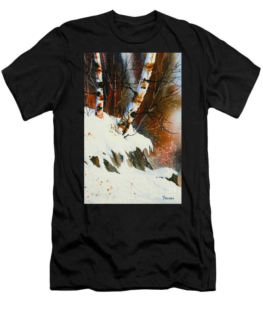 November Snow Men's T-Shirt (Athletic Fit) featuring the painting November Snow by Teresa Ascone