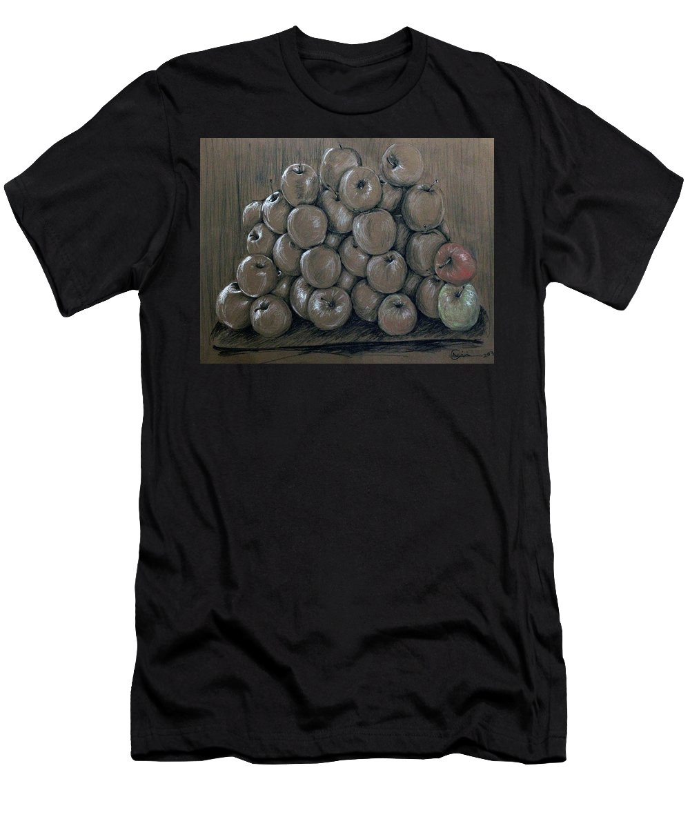 Apples Men's T-Shirt (Athletic Fit) featuring the drawing Oblivion by Nimi Izulu