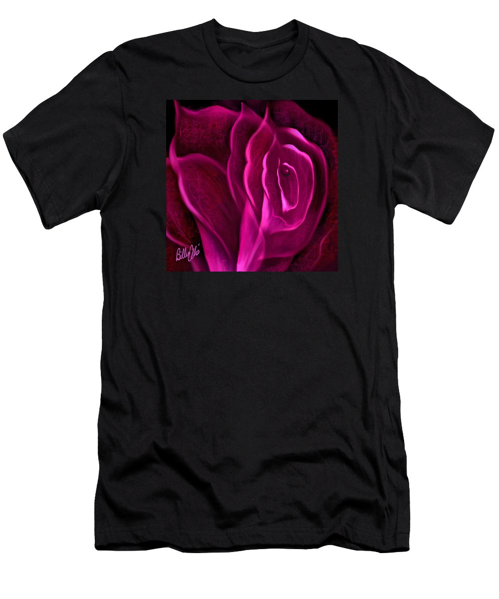 Rose Men's T-Shirt (Athletic Fit) featuring the digital art Obvious by Billie Jo Ellis
