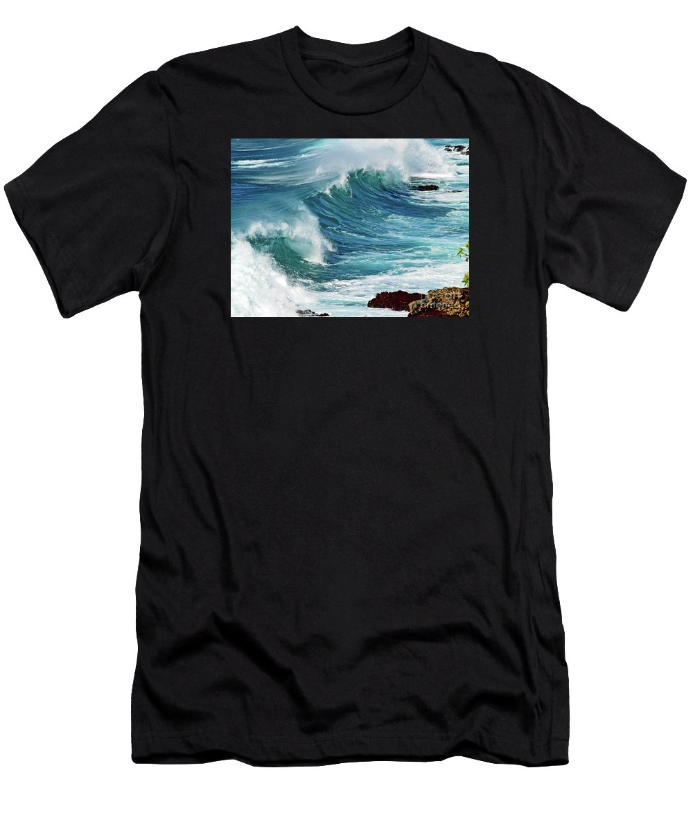 Ocean Photography Men's T-Shirt (Athletic Fit) featuring the photograph Ocean Majesty by Patricia Griffin Brett