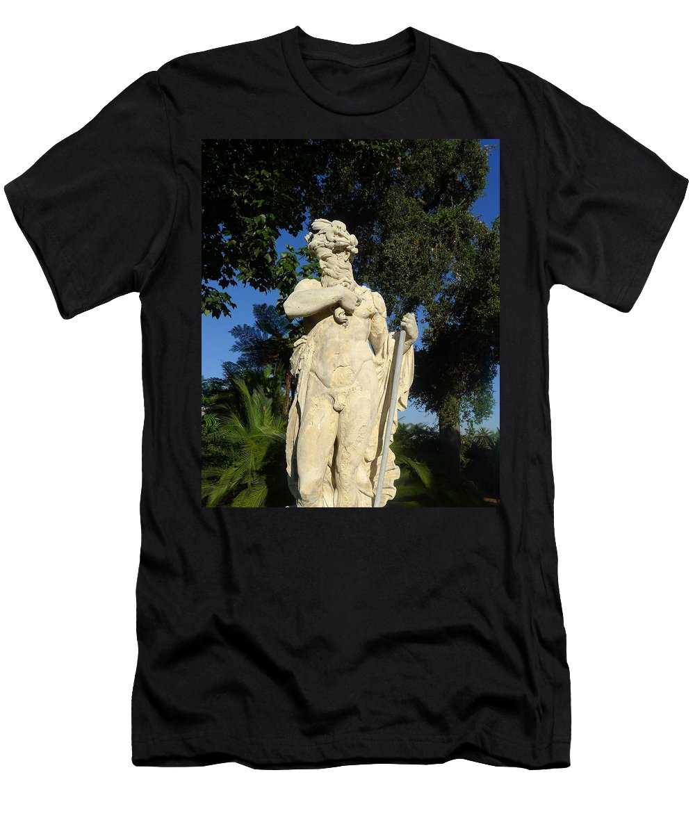 Statue Men's T-Shirt (Athletic Fit) featuring the photograph Of The Gods by Denise Mazzocco