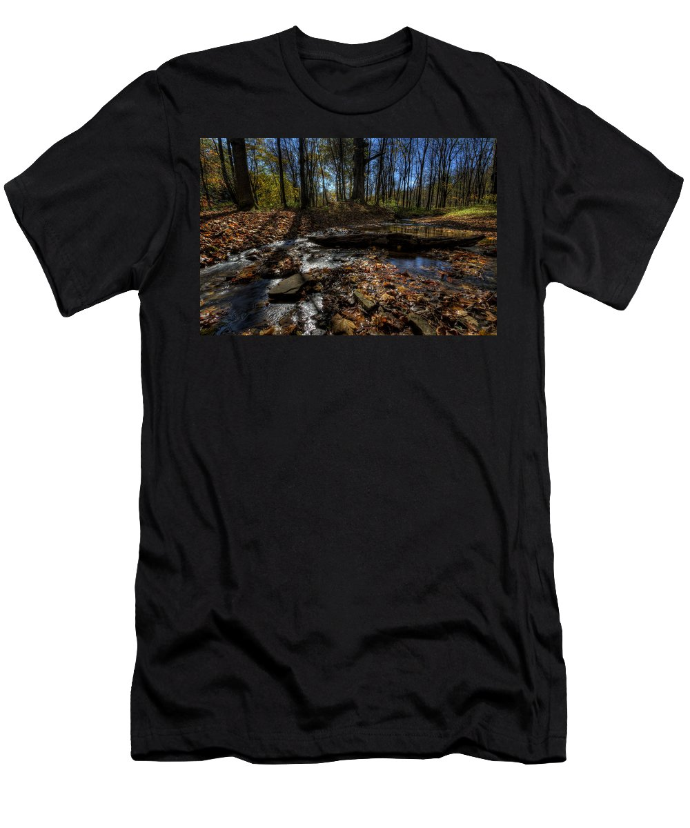 Fall Men's T-Shirt (Athletic Fit) featuring the photograph Ohio Fall Beauty Scene by David Dufresne