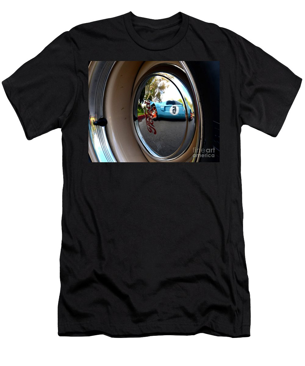 Men's T-Shirt (Athletic Fit) featuring the photograph Old And New Ford Hotrods by Dean Ferreira