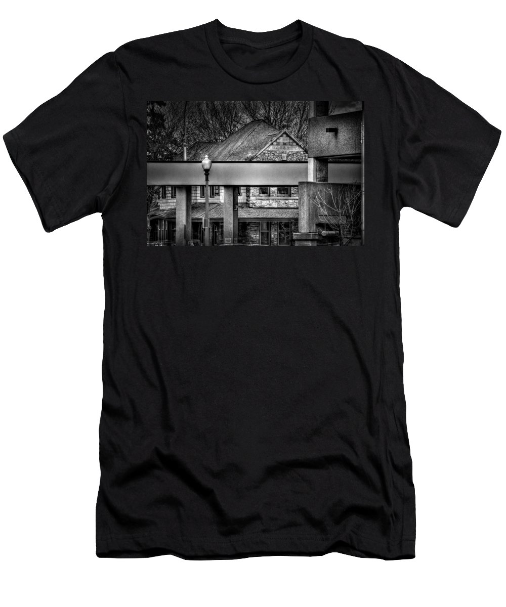 Sioux Falls Men's T-Shirt (Athletic Fit) featuring the photograph Old And New by Mike Oistad