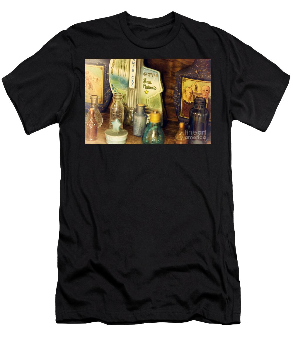 Bottles Men's T-Shirt (Athletic Fit) featuring the photograph Old Bottles by Erika Weber