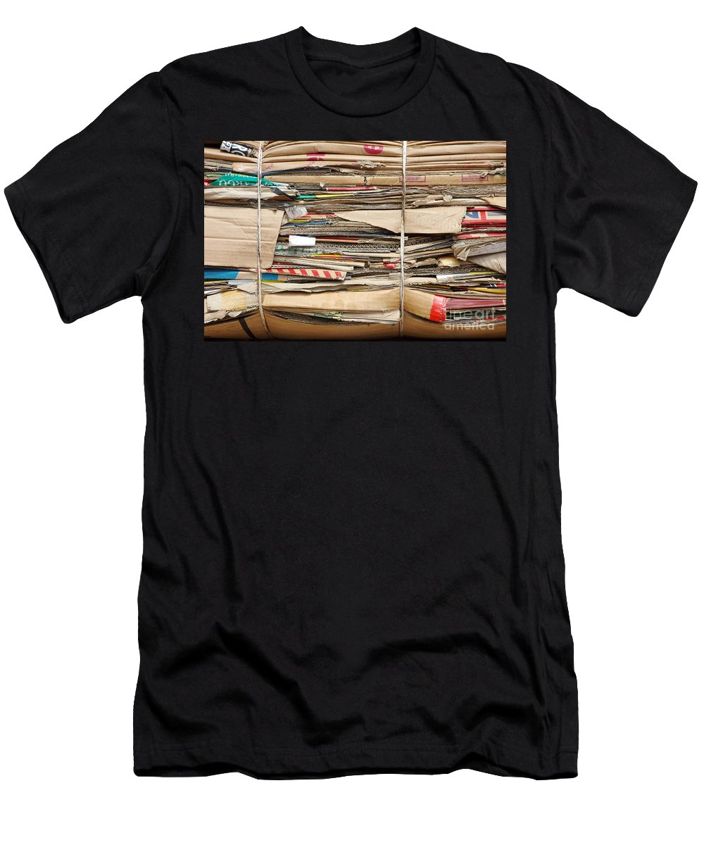 Old Men's T-Shirt (Athletic Fit) featuring the photograph Old Cardboard Boxes by Antoni Halim