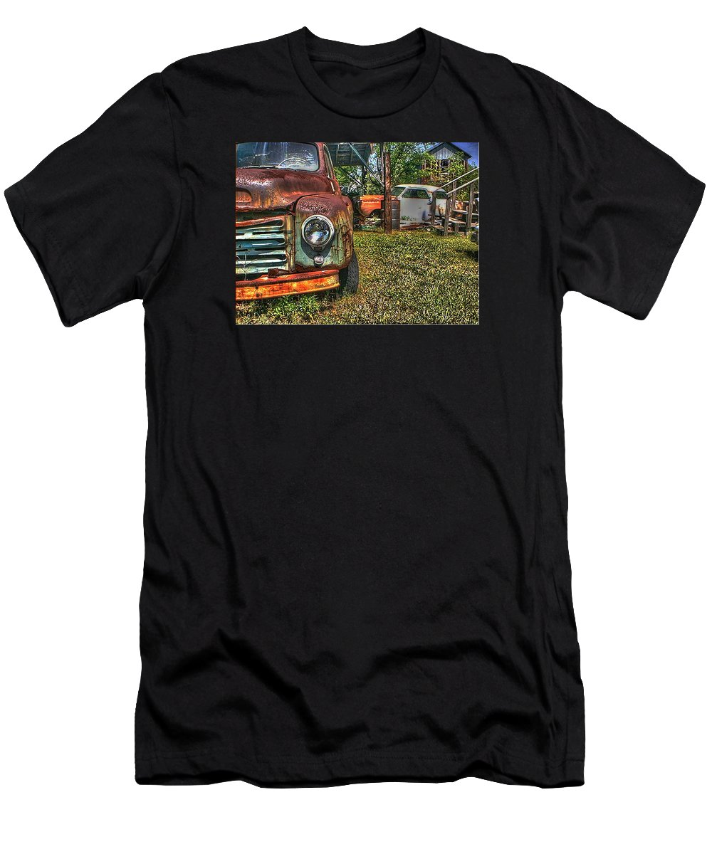 Old Men's T-Shirt (Athletic Fit) featuring the photograph Old Dodge Truck by Van Bunch