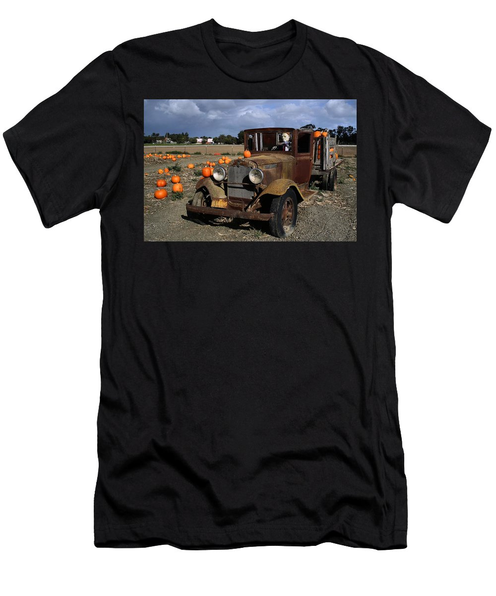 Farm Men's T-Shirt (Athletic Fit) featuring the photograph Old Farm Truck by Michael Gordon