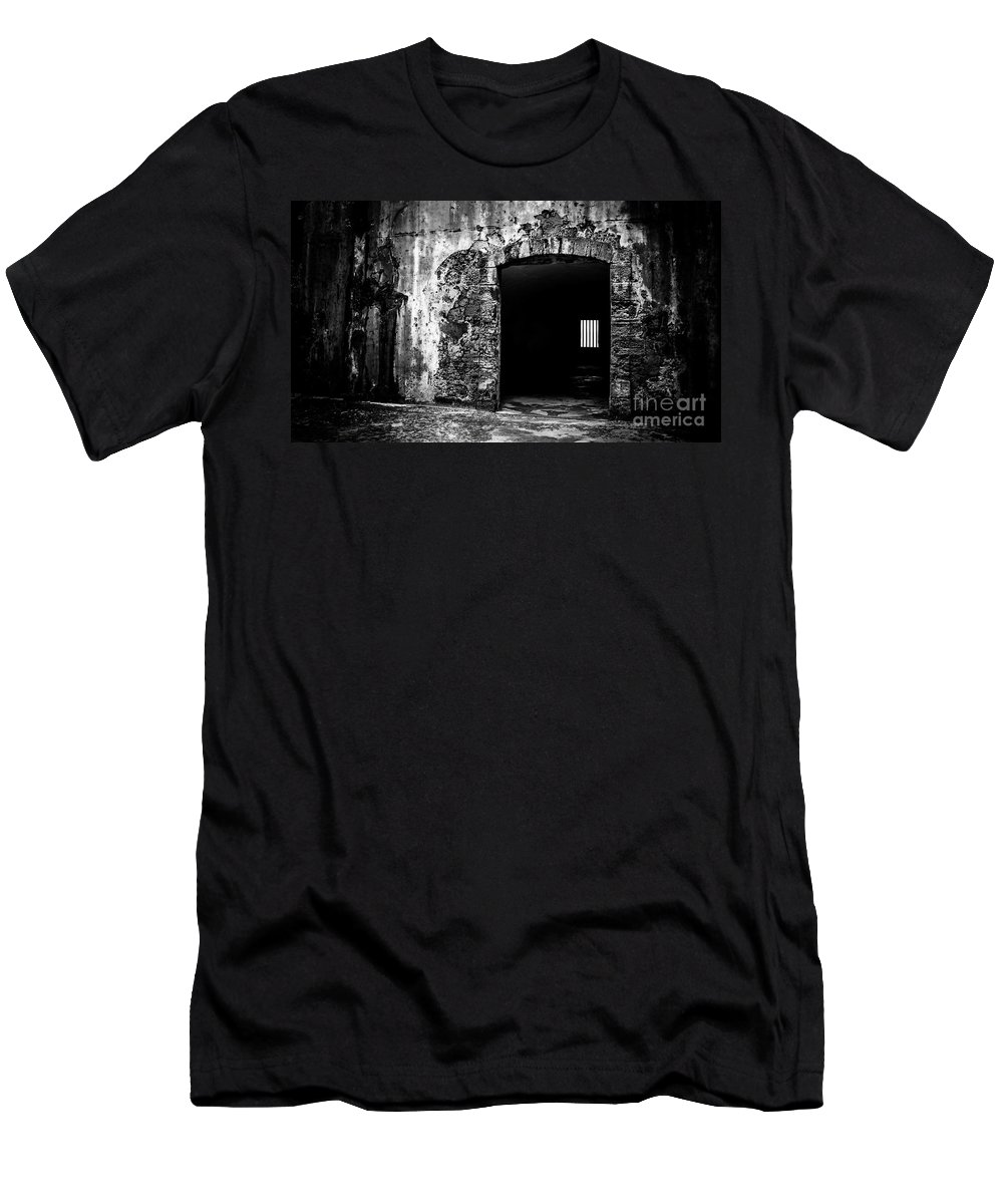 Fort Men's T-Shirt (Athletic Fit) featuring the photograph Old Fort Passway by Perry Webster