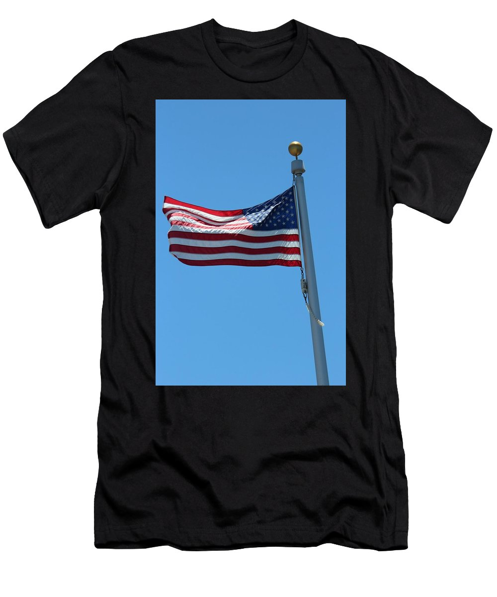 Old Glory Men's T-Shirt (Athletic Fit) featuring the photograph Old Glory by Robert Phelan