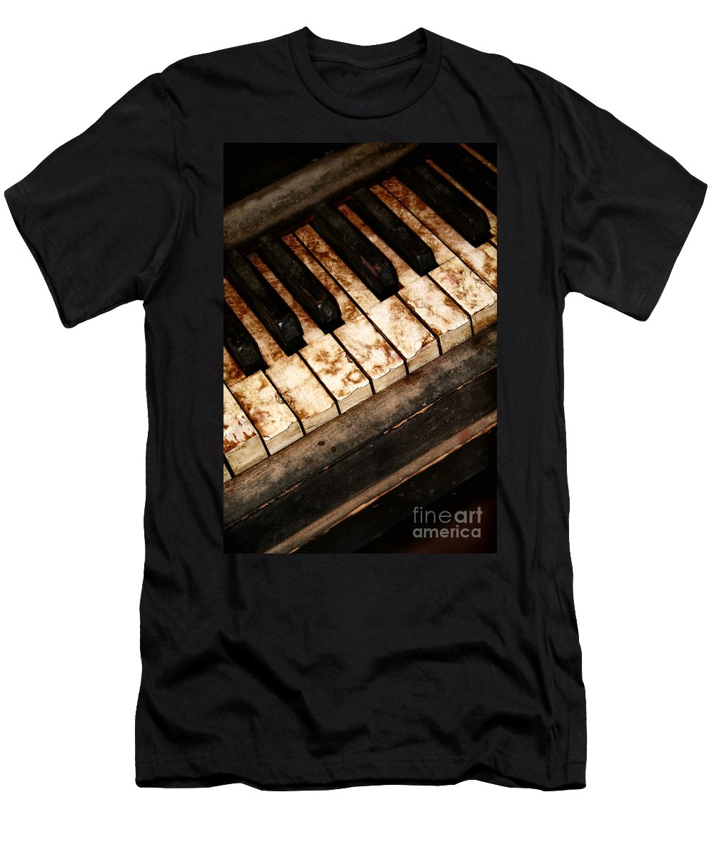 Antique; Old Men's T-Shirt (Athletic Fit) featuring the photograph Old Keys by Margie Hurwich