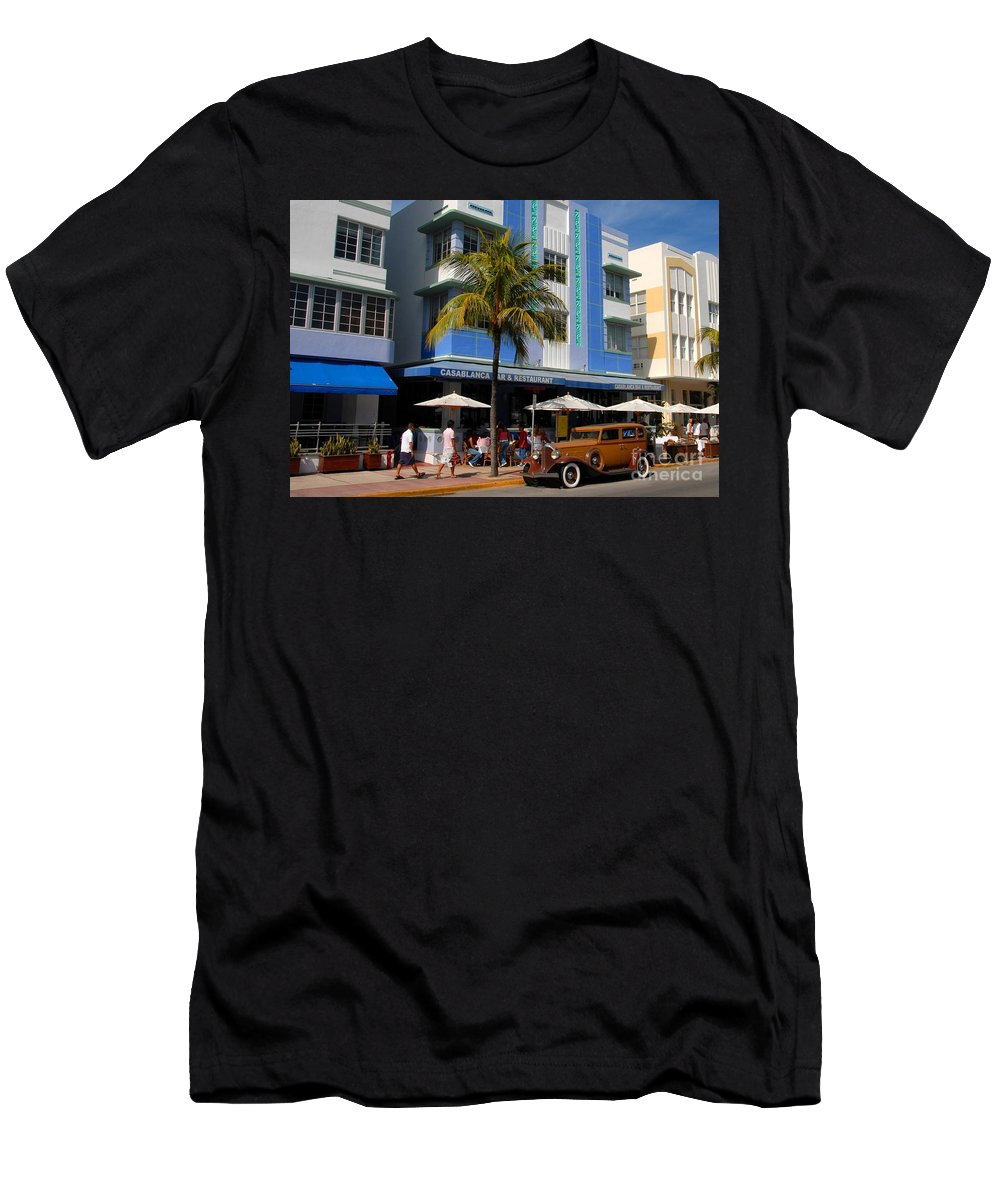 Miami Florida Men's T-Shirt (Athletic Fit) featuring the photograph Old Miami by David Lee Thompson