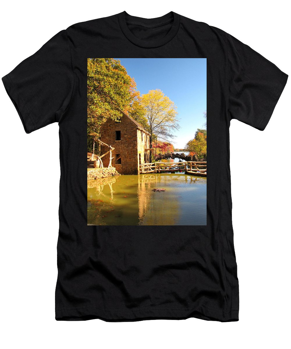 Mill Men's T-Shirt (Athletic Fit) featuring the photograph Old Mill by Karen Beasley