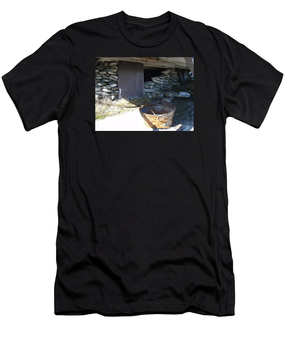 Mountain Men's T-Shirt (Athletic Fit) featuring the photograph Old Pail by Robert Nickologianis
