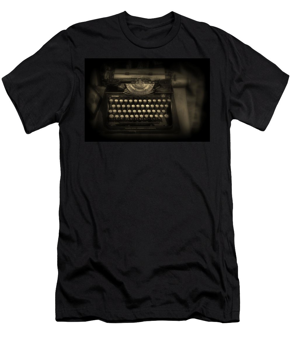 Vintage Men's T-Shirt (Athletic Fit) featuring the photograph Old School by Jeff Watts