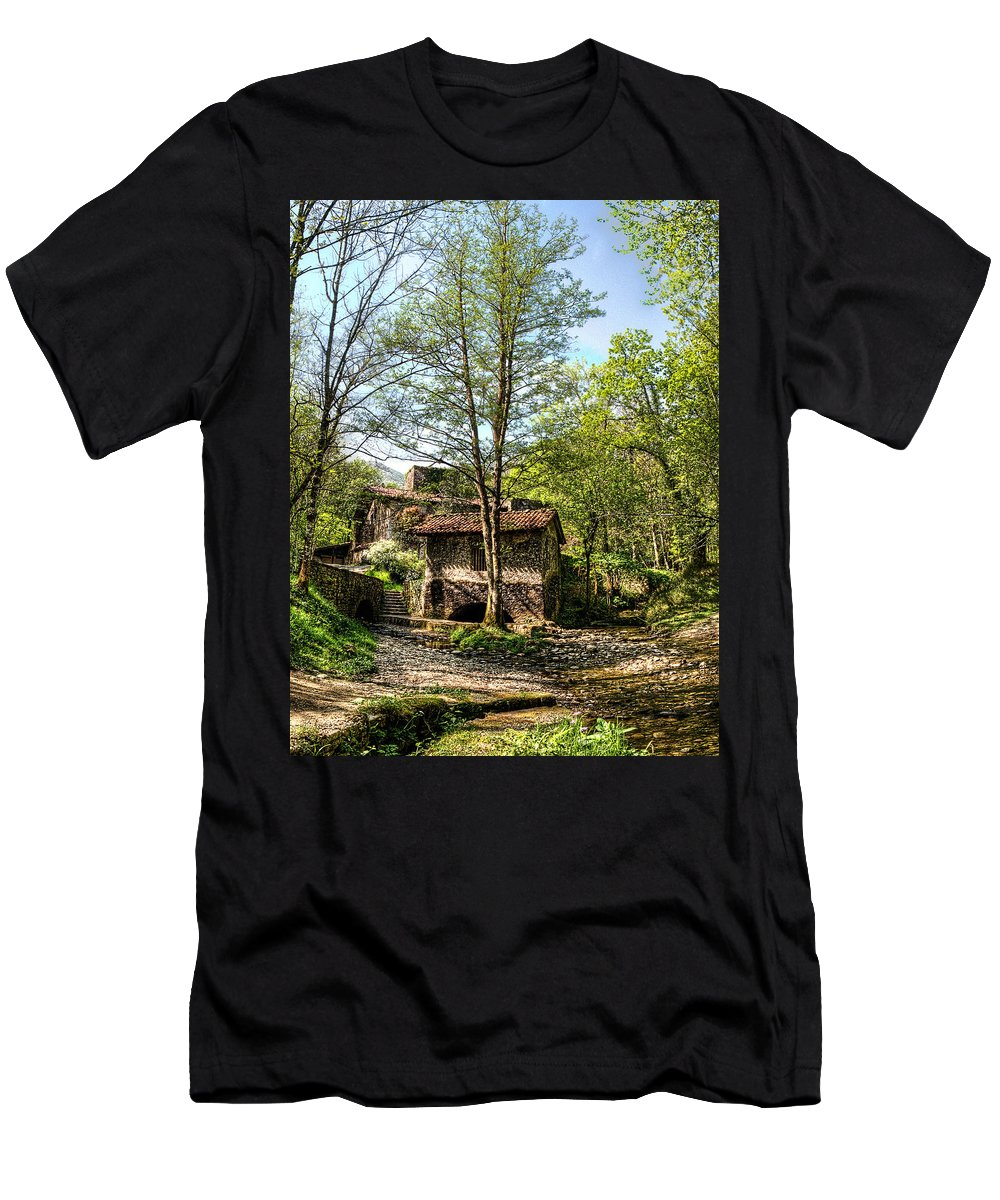 Medieval Smithy Men's T-Shirt (Athletic Fit) featuring the photograph Old Smithy No1 by Weston Westmoreland
