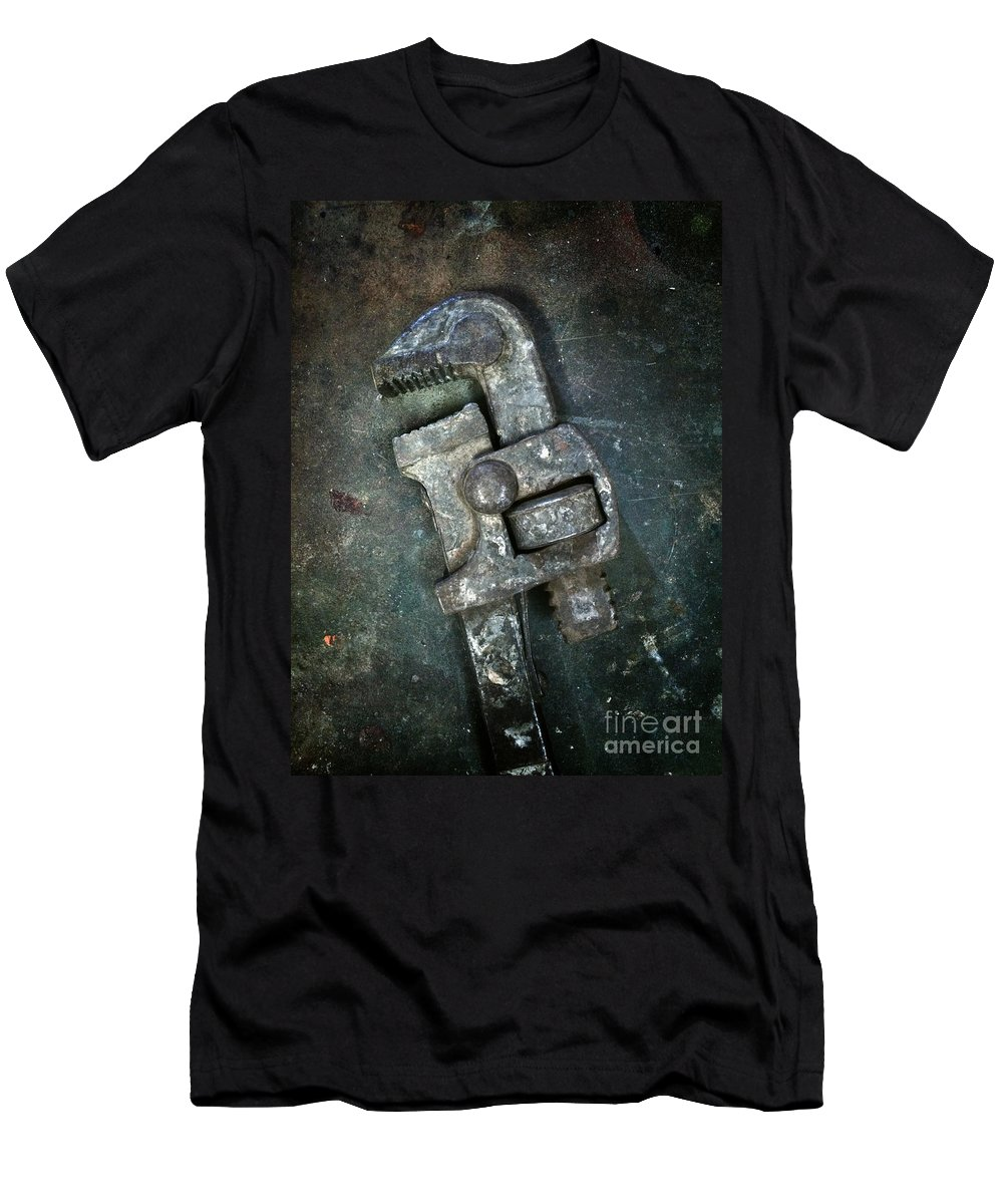 Spanner Men's T-Shirt (Athletic Fit) featuring the photograph Old Spanner by Carlos Caetano