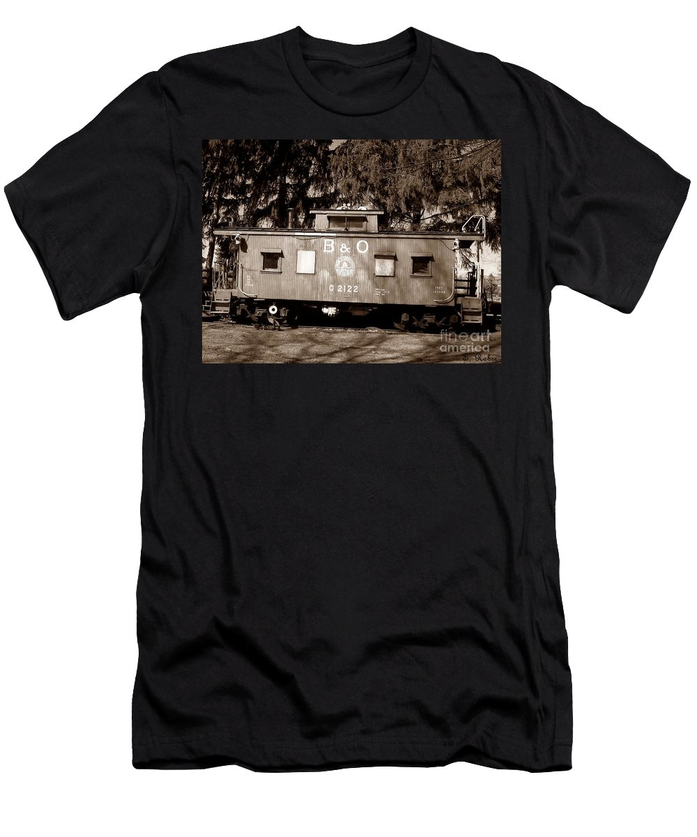 Train Men's T-Shirt (Athletic Fit) featuring the photograph Old Timer by Sara Raber