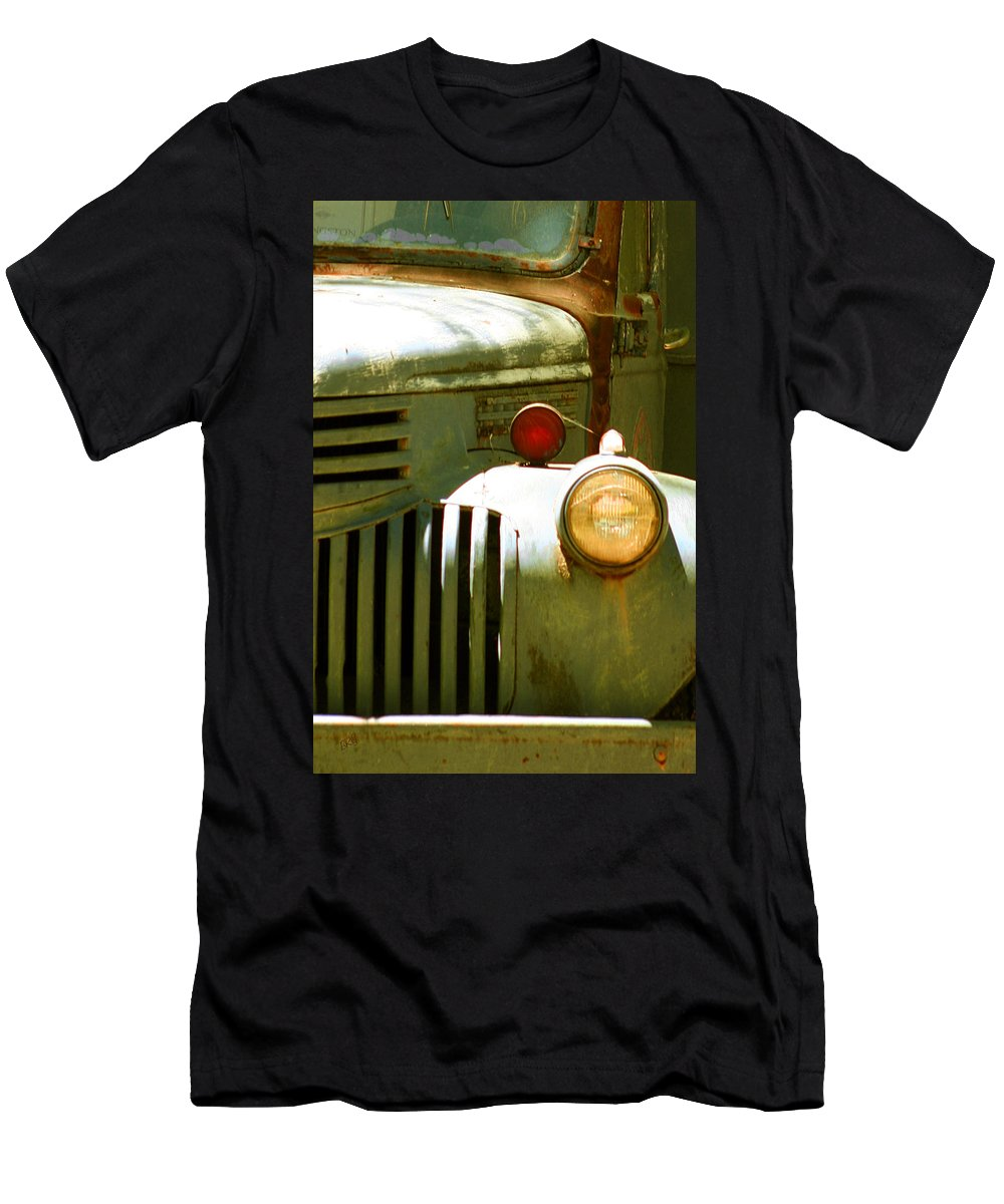 Car Men's T-Shirt (Athletic Fit) featuring the photograph Old Truck Abstract by Ben and Raisa Gertsberg
