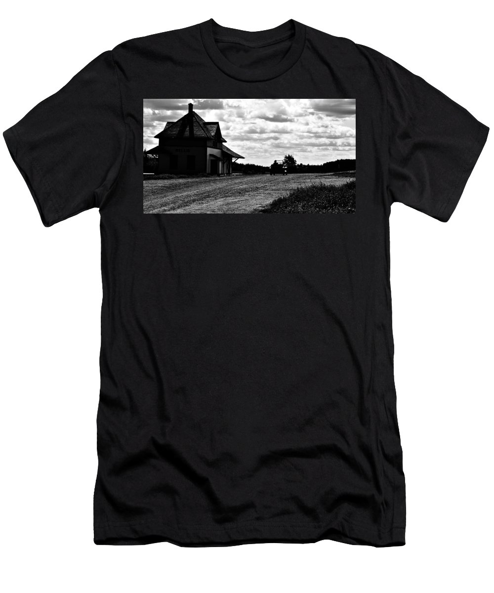 Old Car Men's T-Shirt (Athletic Fit) featuring the photograph Oldtime Drive by The Artist Project
